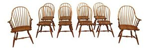 L31319ec Set Of 10 Stickley Cherry Windsor Dining Room Chairs