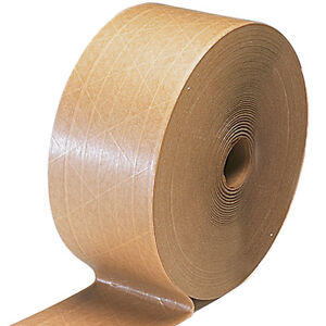 Gummed Tape reinforced 6 Rolls 900 Ft 70mm 90 00 A Case Jumbo Size Rolls Nice