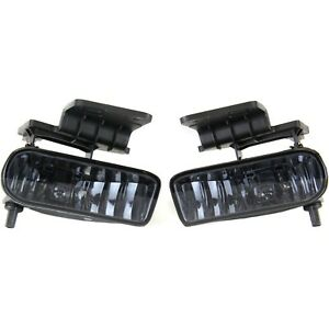 Fog Light For 1999 2002 Chevy Silverado 1500 Lh Rh Pair Smoked Lens