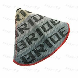 Red Stitches Shift Knob Shifter Boot Cover Mt At Jdm Bride Racing Hyper Fabric