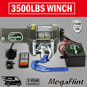 3500lb Winch Atv Utv 12v Electric Wireless Remote Waterproof Boat Kit Offroad Us