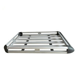 64 Universal Silver Roof Rack Cargo Carrier W Extension Luggage Basket Suv