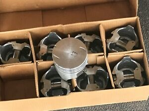Chevy Big Block 366 Flat Top Pistons New Std Bore