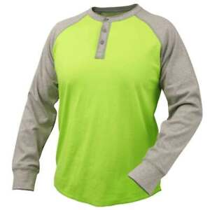 Black Stallion Tf2520 Fr Cotton Jersey Long Sleeve T shirt Gray lime 2x large