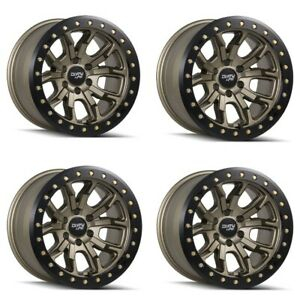 Set 4 20 Dirty Life 9303 Dt 1 Satin Gold Lifted Truck Wheels 20x9 8x170 0mm