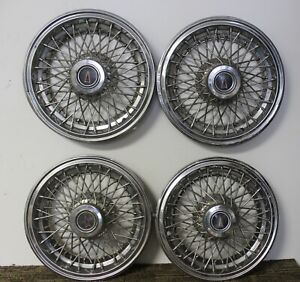 Oem Gm 15 Wire Type Hub Caps Wheel Covers 10037045 1985 1987 Pontiac W12