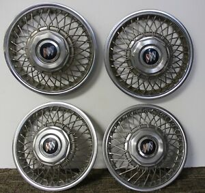 Oem Gm 13 Wire Type Hub Caps Wheel Covers 22534709 1986 89 Buick Skyhawk W11