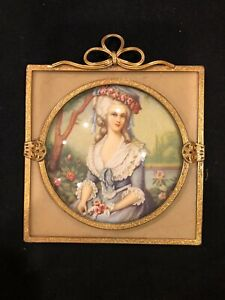 Ornate Victorian Gold Convex Glass Wall Picture Frame