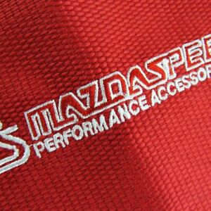 Shift Knob Shifter Boot Cover Mt At W Red Racing Fabric Red Stitches Jdm Mazda