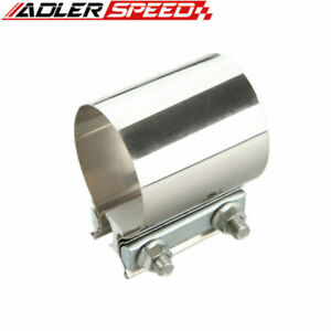 Adler Speed 2 25 2 1 4 Inch Stainless Steel Exhaust Muffler Flat Band Clamp