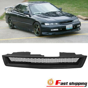 Fit 1994 1997 Honda Accord Abs Black Type r Front Hood Bumper Mesh Grille Grill