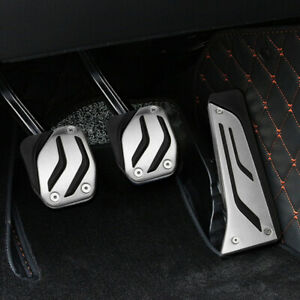 3pcs Car Foot Gas Brake Pedal Pad Cover For Bmw Mt