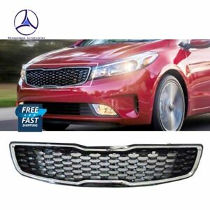 Fits For 2017 2018 Kia Forte Front Chrome Upper Bumper Grille