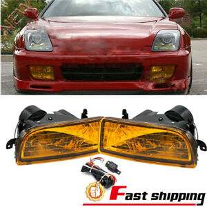 Fit For Honda Prelude 1997 2001 Yellow Fog Lights Front Bumper Lamps Switch