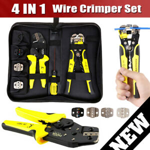 Portable 4 In 1 Wire Crimpers Ratcheting Terminal Crimping Pliers Terminals Tool