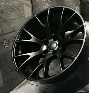 Fits 2 20 10 5 Hellcat Satin Black Atturo Tires Wheels Rims Challenger Charger