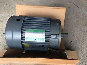 Lincoln 3 Hp 3 Phase 1750 Rpm Electric Motor Tefc Nos