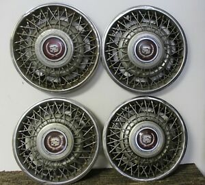Oem 15 Wire Type Hub Caps Wheel Covers 1623577 1619764 1981 85 Cadillac W30