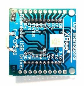 Robocraze Xbee Zigbee Adapter Board With Usb Interface Micro Usb Base