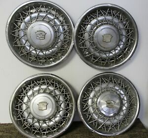 Oem 15 Wire Type Hub Caps Wheel Covers 1617750 1617758 1979 80 Cadillac W48