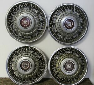 Oem 15 Wire Type Hub Caps Wheel Covers 1623577 619764 1981 85 Cadillac W40