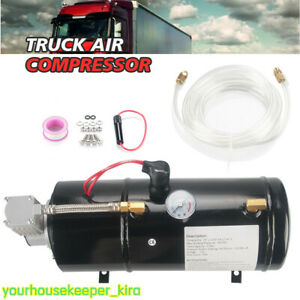 Portable 12v 150psi Metal Truck Air Compressor With 3l Tank For Car Truck Bike P