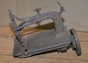 Rare Odd Early Hand Crank Sewing Machine Antique Weed 1875 Tool Parts Or Repair