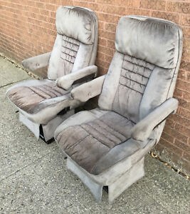 1993 Gmc Vandura American Van Cloth Front Seats Captain Chairs Chevy Dodge Ford
