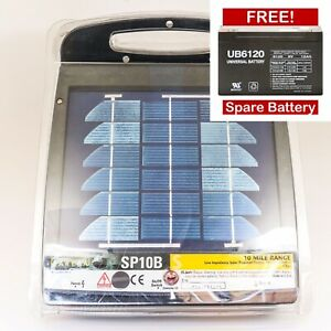 New Zareba Sp10b 10 mile Solar powered Electic Fence Controller free Shipping