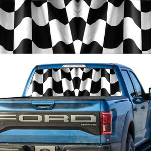 Rear Window Decal Graphic Tint Checkered Flag