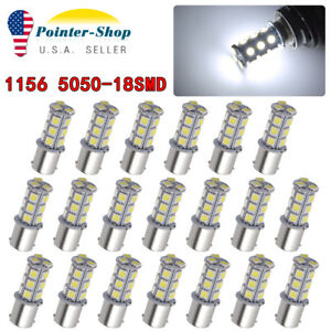 20pcs Dc12v 1156 1003 1141 18 Smd Interior Rv Camper White Led Tail Backup Bulb