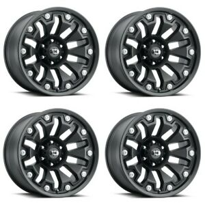 Set 4 20 Vision Armor 362 Satin Black Wheels 20x9 8x170 12mm Ford Truck Rims