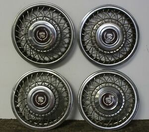 Oem 15 Wire Type Hub Caps Wheel Covers 25530797 1989 91 Cadillac Deville w52