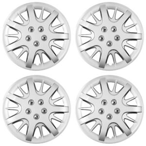 16 Push on Silver Wheel Cover Hubcaps For 2000 2003 Chevy Impala