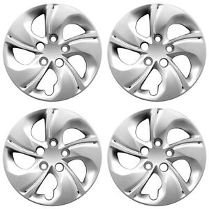 15 5 Twisted Spoke Silver Wheel Cover Hubcaps For 2013 2015 Honda Civic