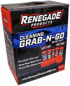 Renegade Products Cleaning Grab N Go Mini Detailing Kit For Trucks Or Cars