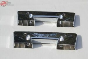 Chevy Gm Front Interior Inside Chrome Arm Rest Pad Bases Pair Set Of 2 Two New