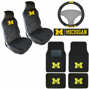 Ncaa Michigan Wolverines Car Truck Seat Covers Steering Wheel Cover