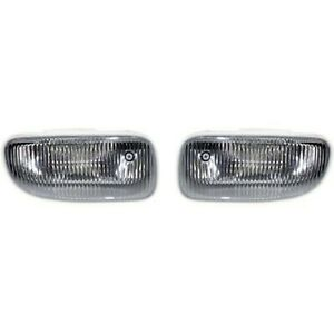 Set Of 2 Clear Lens Fog Light For 2002 03 Jeep Grand Cherokee Lh Rh