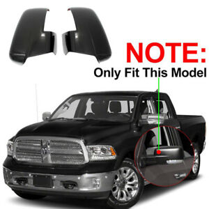 For 2013 2018 Dodge Ram 1500 2500 3500 Black Mirror Cover W turn Signal Cut out