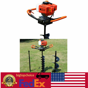 Gas Powered 52cc Post Hole Digger Type 4 6 8 Earth Auger Ground Drill Bits