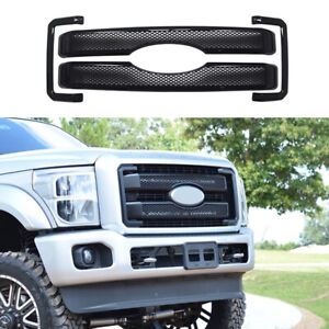For 2011 2016 Ford F250 F350 F450 F550 Black Grille Grill Cover Overlay Insert