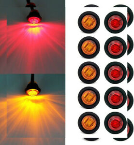 Purishion 10x 3 4 Round Led Clearence Light Front Rear Side Marker In