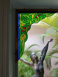 Stained Glass Window Corner 17 X 15 Custom By D A Stained Glass Creations
