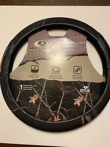Mossy Oak Black Camo Steering Wheel Cover Msw3410