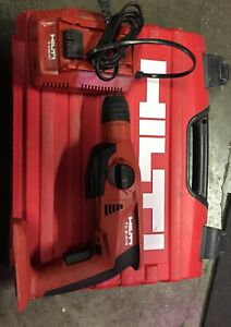 Hilti Te 2 a18 18v Cordless Rotary Hammer Drill charger In Case