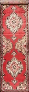 Vintage Decorative Bakhtiari 14 Ft Stair Hall Way Runner Rug Hand Knotted 3 X14