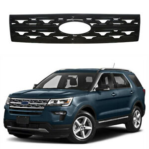 For 2018 2019 Ford Explorer Black Snap On Grille Overlay Front Grill Trim Cover