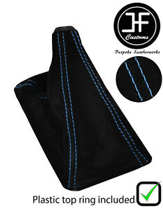 Blue Stitch Suede Shift Boot With Top Ring For Honda Civic 1988 1995