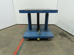 Hydraulic Mechanical 4 Post Die Table Cart 30x30 Platform 30 1 2 49 Lift